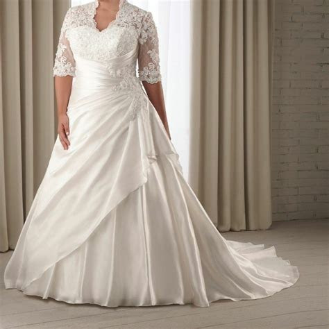 sleeve lace wedding dress bridal gown custom
