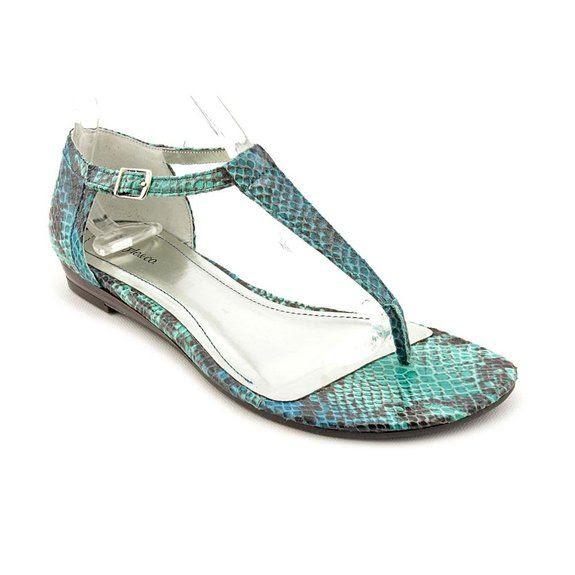 Style & Co Elise Open Toe Dress Sandals Shoes Blue Womens: Shoes