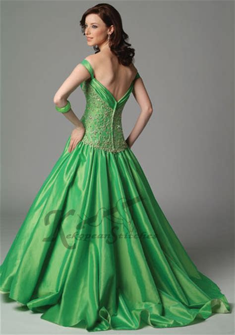 Bright Green And Dark Green Wedding Dress Designs