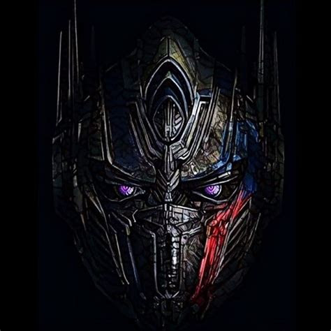 transformers   knight optimus prime head prisma