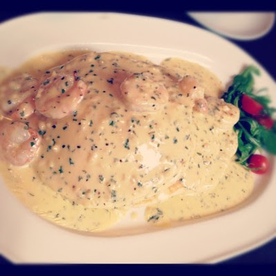 Butter prawn pancake!:) (Taken with Instagram)