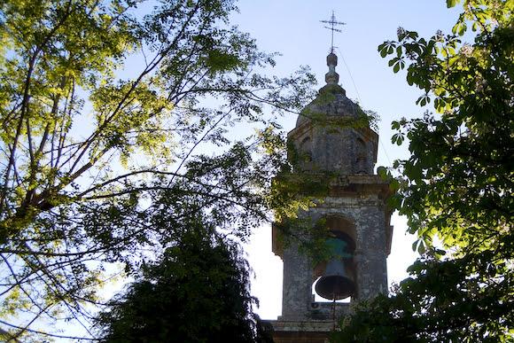 church bell tower Lavacolla Galicia Spain, Camino de Santiago
