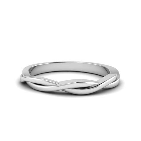 Twisted Vine Wedding Band In 18K White Gold   Fascinating