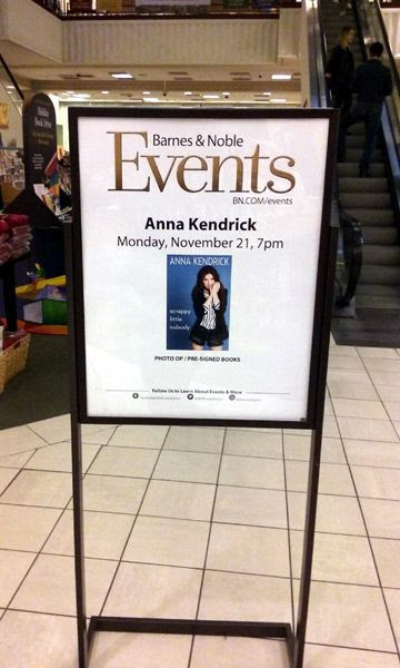 At The Grove's Barnes & Noble bookstore in Los Angeles to attend a photo op by actress Anna Kendrick...on November 21, 2016.