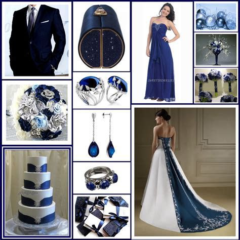 Navy Blue, Silver and Ivory Wedding Palette close to what