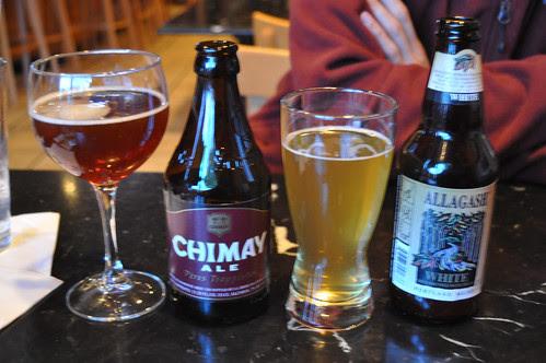 Chimay & Allagash White Bottles