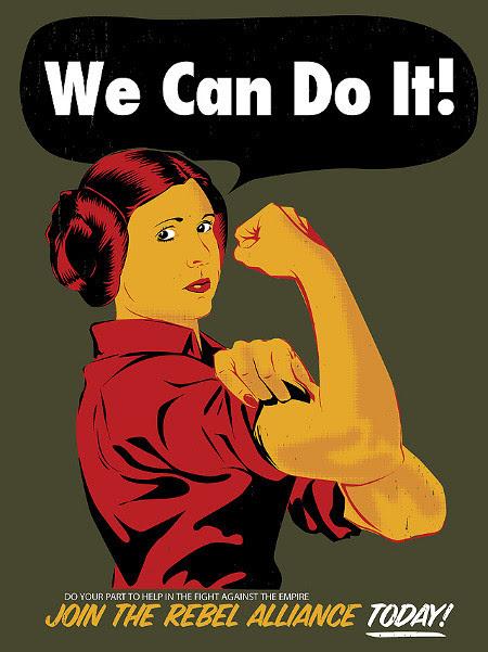 Lela We Can Do It Rebel Alliance Propaganda Poster