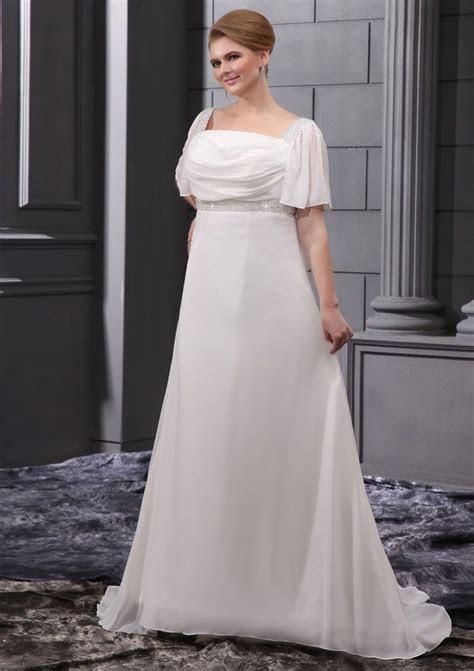 Cheap Plus Size Wedding Dresses   cheap a line square