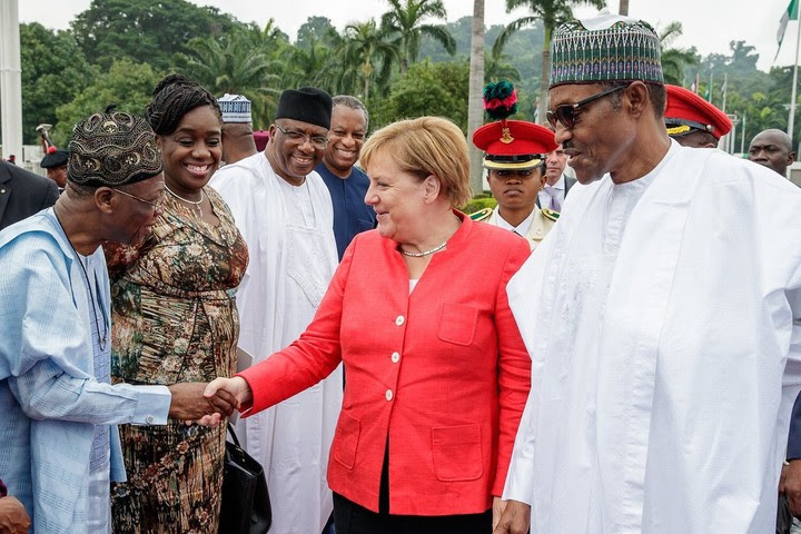 Buhari Receives German Chancellor, Angela Merkel (Photos)
