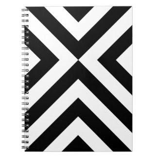 Black and White Chevrons Note Books