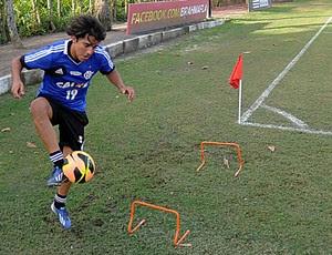 Marcelo Moreno em treino físico com bola flamengo (Foto: Alexandre Vidal/Fla Imagem)