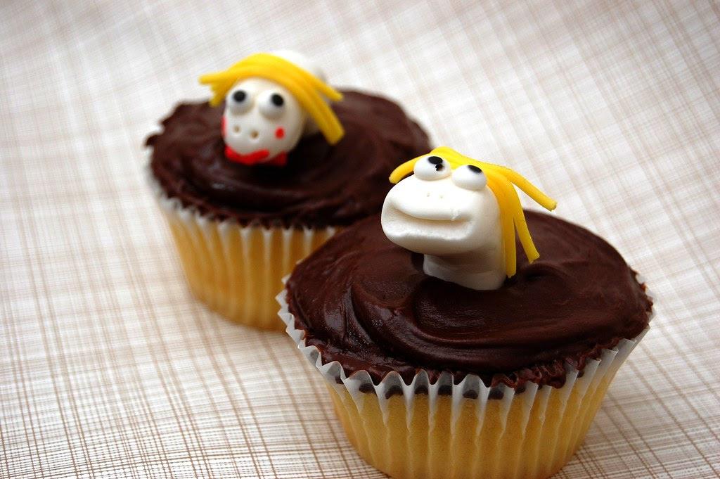 Sock Puppet Cupcakes