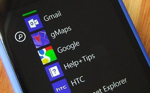 Aplikasi Google di Windows Phone.