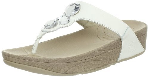 ab06b8c57f26e9 FITFLOP 181 Ladies LUNETTA Leather Shoes Sandals FitFlops  White  UK ...