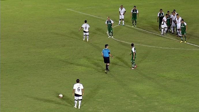 Globo FC x Alecrim, no Estádio Barretão, em Ceará-Mirim (Foto: Reprodução/Inter TV Cabugi)