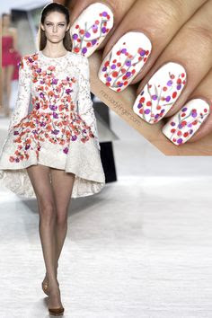 Giambattista Valli S/S 2014 inspired nail art