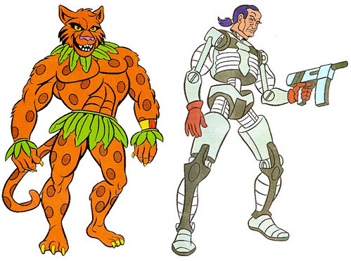 (TMNT Spinoff) ..Mutanimals The Animated Series! -  Jagwar & Executor ..[[Courtesy of Ryan Brown]]  ((1992))