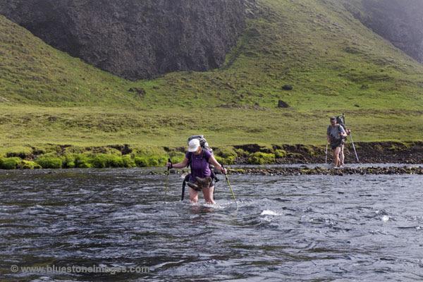 01M-0305 temp Crossing the the Syori-Ofaera River Iceland