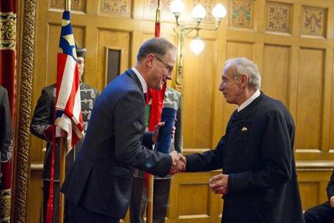 Tibor Navracsics and Péter Szentmihályi Szabó The foreign minister is delighted