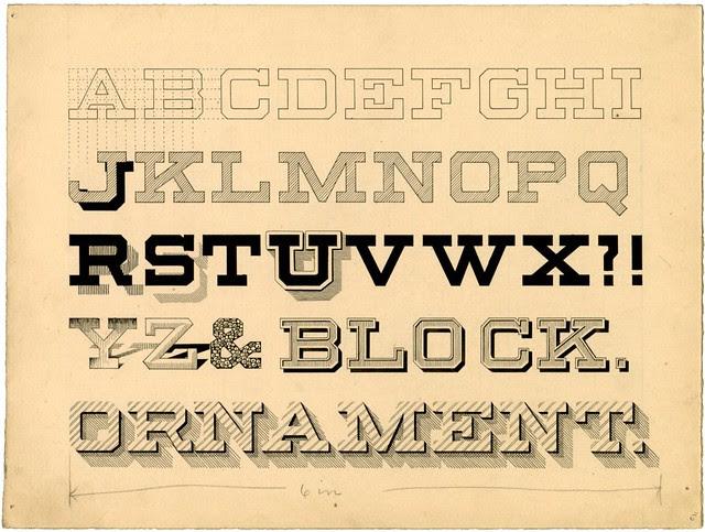 Penmanship publication design - Block Ornament