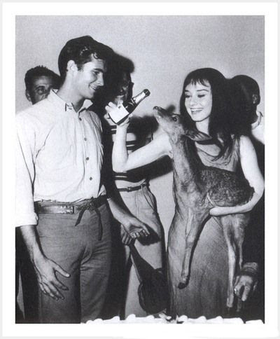 Audrey Hepburn and Anthony Perkins
