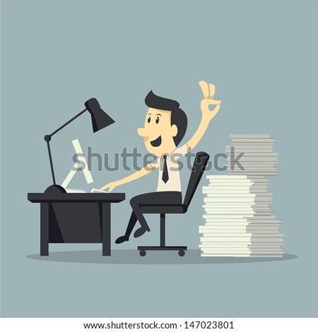 Hard Working  - stock vector
