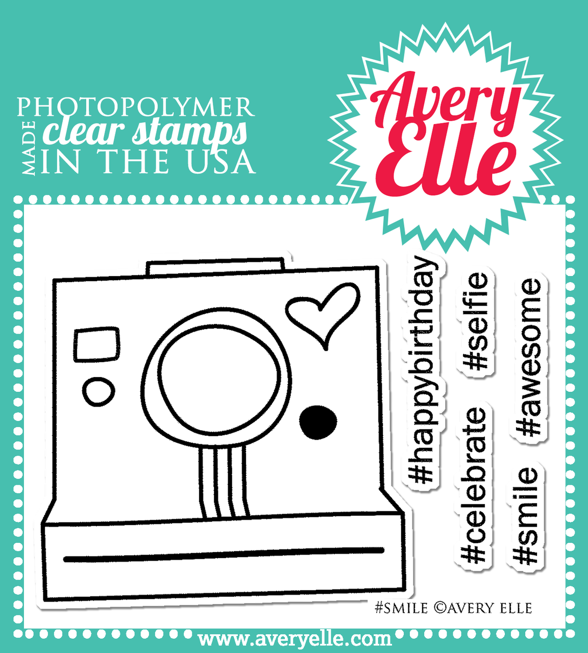 Avery Elle #Smile clear stamps
