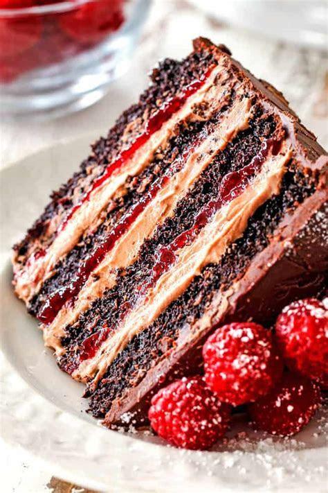Chocolate Raspberry Cake with Raspberry Jam, Chocolate