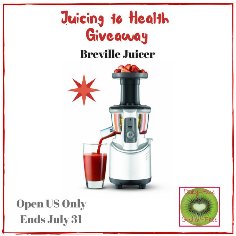 Enter the  Juicing to Health with a Breville Juicer Giveaway. Ends 7/31