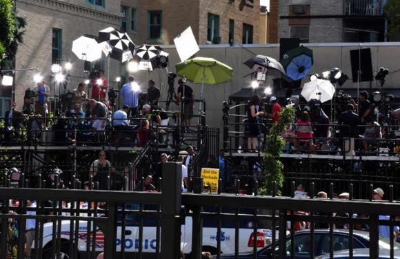 Numerosos medios de prensa siguieron el histórico acontecimientos, 20 de julio de 2015Foto: Bil Hackwell.