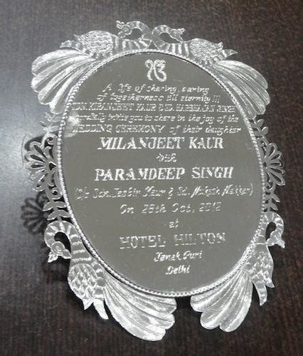 Silver Wedding Cards Manufacturer from Delhi