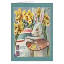Vintage Easter Bunny Artist Card