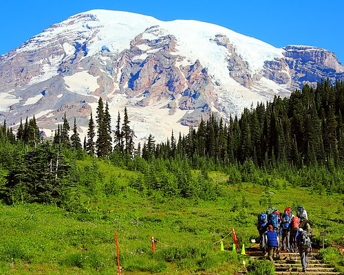 IMG_8998L Climbers Heading for the Summit, Mount Rainier National Park