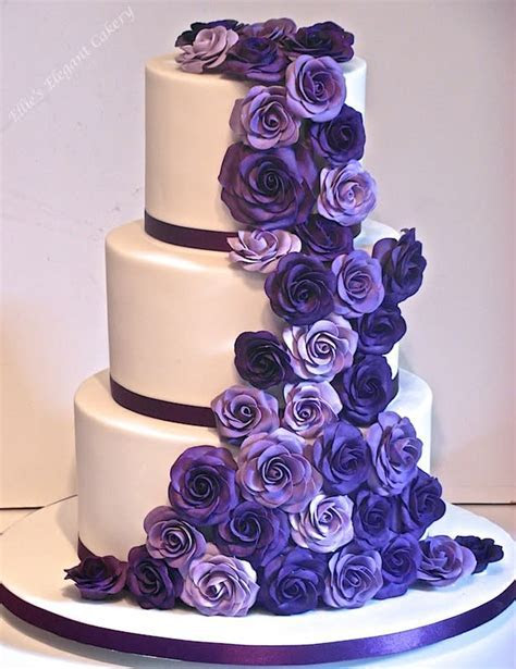 Classic cadbury purple wedding cake :)   Cake by Ellie