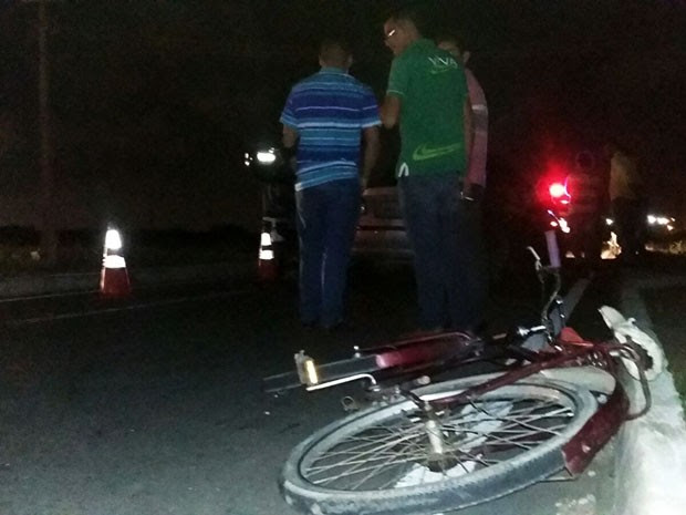 acidente aconteceu na rotatória que liga a BR-101 norte à RN-160 (Foto: Sérgio Henrique Santos/Inter TV Cabugi)