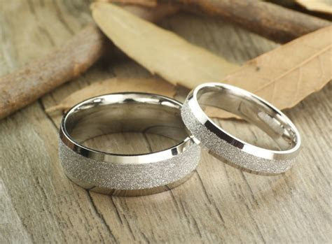 Handmade Wedding Bands, Couple Rings Set, Titanium Rings