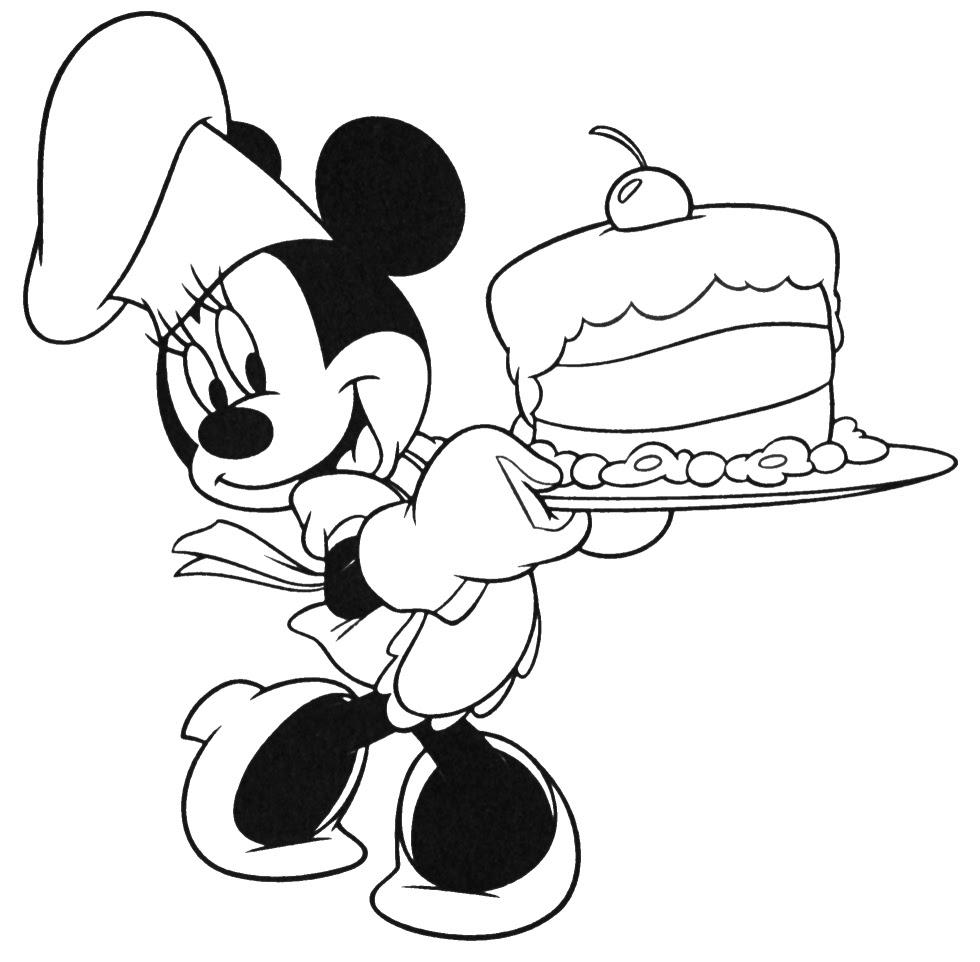 Imprimer le coloriage Minnie Mouse numéro