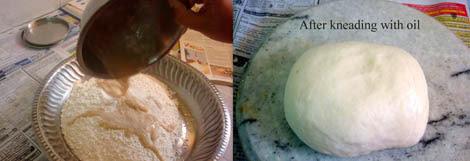 kneaded garlic roll dough