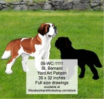 St Bernard Yard Art Woodworking Pattern - fee plans from WoodworkersWorkshop® Online Store - st bernards,dogs,pets,animals,yard art,painting wood crafts,scrollsawing patterns,drawings,plywood,plywoodworking plans,woodworkers projects,workshop blueprints