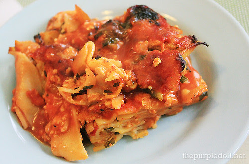 Low-fat and Cheese-less Vegan Lasagna P120