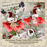 Christmas Flower Dolls Red CU FS