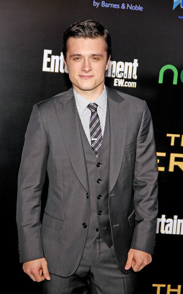 """Josh Hutcherson at the Los Angeles premiere of """"The Hunger Games"""" held at the Nokia Theatre L.A. Live, Los Angeles."""