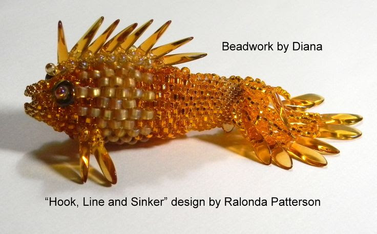 """Hook, Line and Sinker"" design by Ralonda Patterson; Beadwork by Diana"