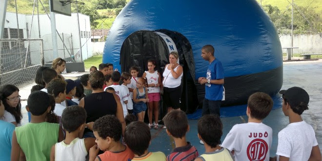 Escola Pirajá recebe Planetário Itinerante