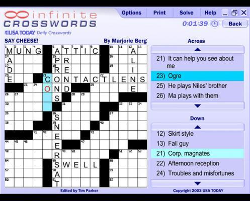 crossword puzzles maker: 2012