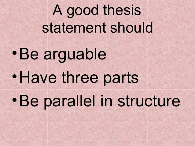 how to make a thesis statement parallel