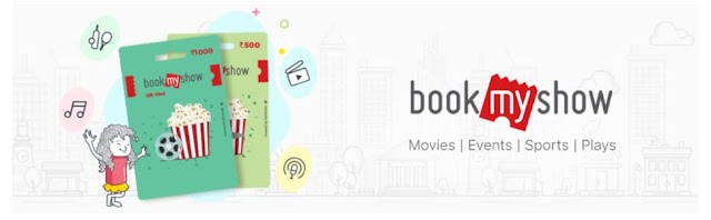 Get 50% Upto Rs.100 off on BookMyShow e-Gift card at Amazon