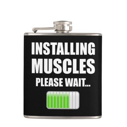 Installing Muscles Please Wait Hip Flask