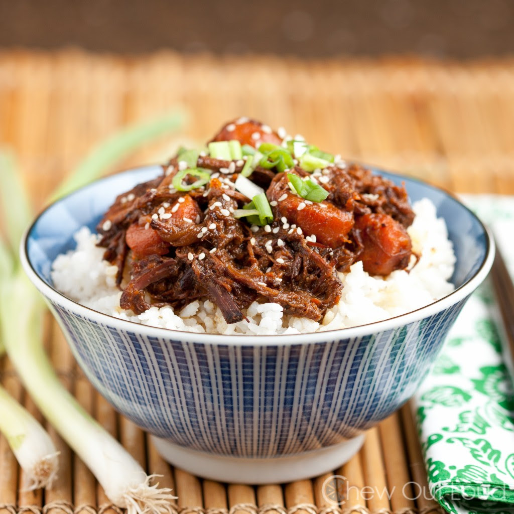 Sweet Korean BBQ slow cooker