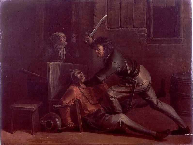 File:Jan van der Venne - A fight in an inn.jpg